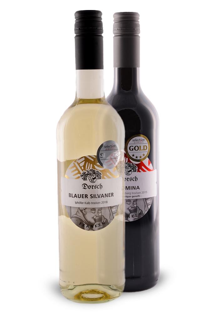 Burgunderflasche - Bordeauxflasche