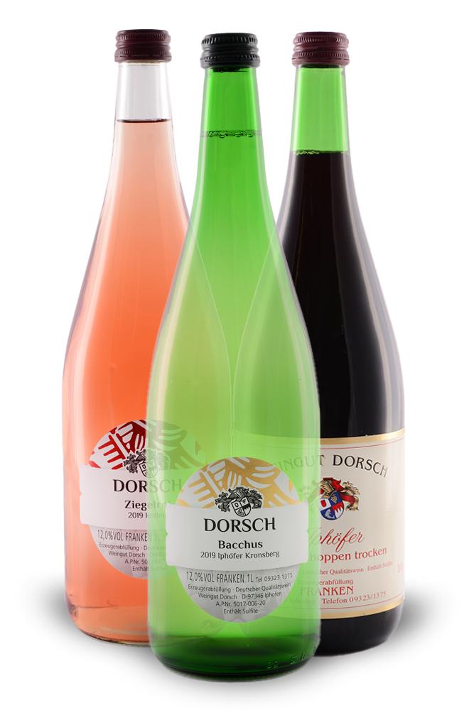Literflasche - Weisswein, Rotwein